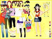 Play Yellow casual dress up Game