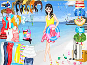 Beach Holiday Dress Up game