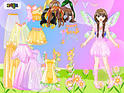 Play Pink fairy dressup Game