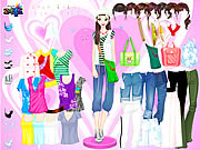 Play Colorful shirts dress up Game