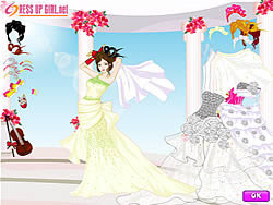 My Wedding Day Dressup game