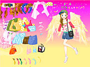 Jugar Fashion angel dress up Juego