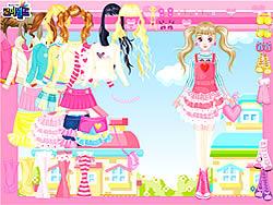 Maglaro ng libreng laro Pink Hearts Dress Up