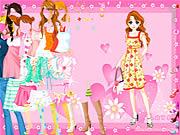 Jugar Pink heart dressup Juego