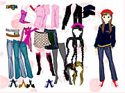Play Colorful girl dress up Game