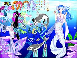 With Ocean Inside Dress Up oyunu