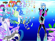 Jugar With ocean inside dress up Juego