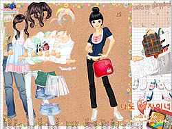 Shopping Girl 4 Dress Up game