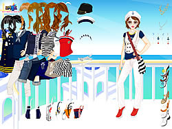 Navy Girl Dress Up game