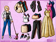 Anime girl and dog dressup