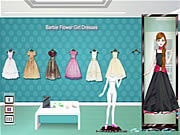 Play Barbie flower girl dresses Game