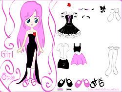 Играть бесплатно в игру Kiss Doll Dress Up