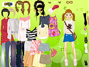 Play Cool for school dress up Game