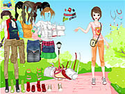 Play Outdoor dressup Game
