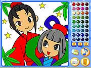 Manga mania coloring Spiele
