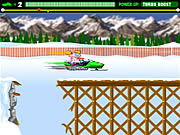 Play Super snowmobile rally Game