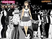 Leena black white dressup Spiele