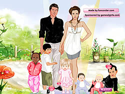 Angelina and Brad Dressup game