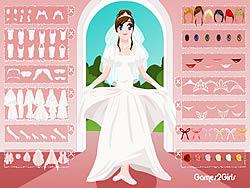 White Bridal Dressup game