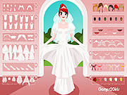 Play White bridal dressup Game