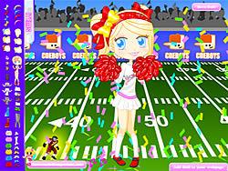 Football Cheerleader game