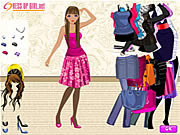 Play Dress up a slender girl Game