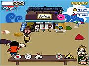 Hiroshi & David - Shooting Onigiri game
