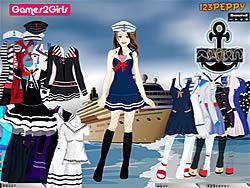 Tandy Sailor Girl Dressup Game game