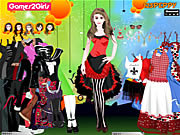 Play Doris punk girl dressup Game