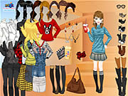 Play Rock stripes dressup Game Online